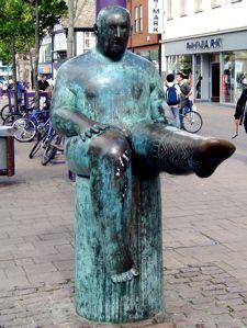Sock Man statue, Loughborough, Leicestershire, England