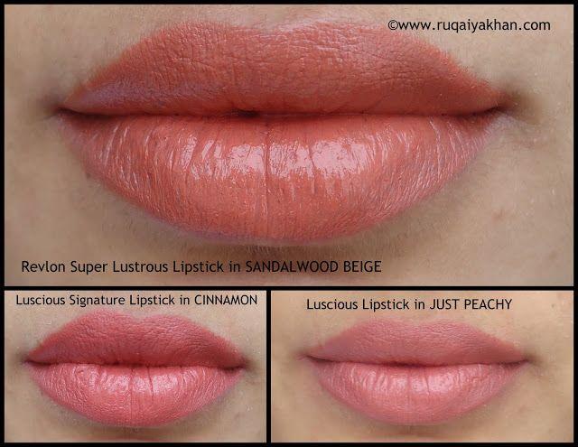 ruqaiya khan revlon super lustrous lipstick in sandalwood