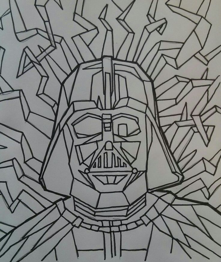 Just saw the new Star Wars trailer so I had to draw my favourite villain Darth Vader