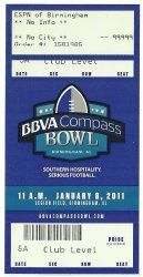2011 BBVA Compass Bowl Game Full Ticket Pittsburgh Kentucky....if you like this you can find many more college bowl game tickets for sale at www.everythingcollectibles.biz