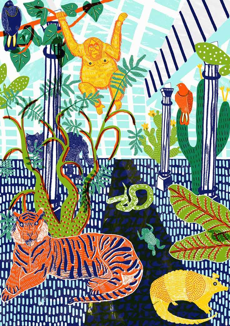Jungle print now available at my shop! camillaperkins.bigcartel.com