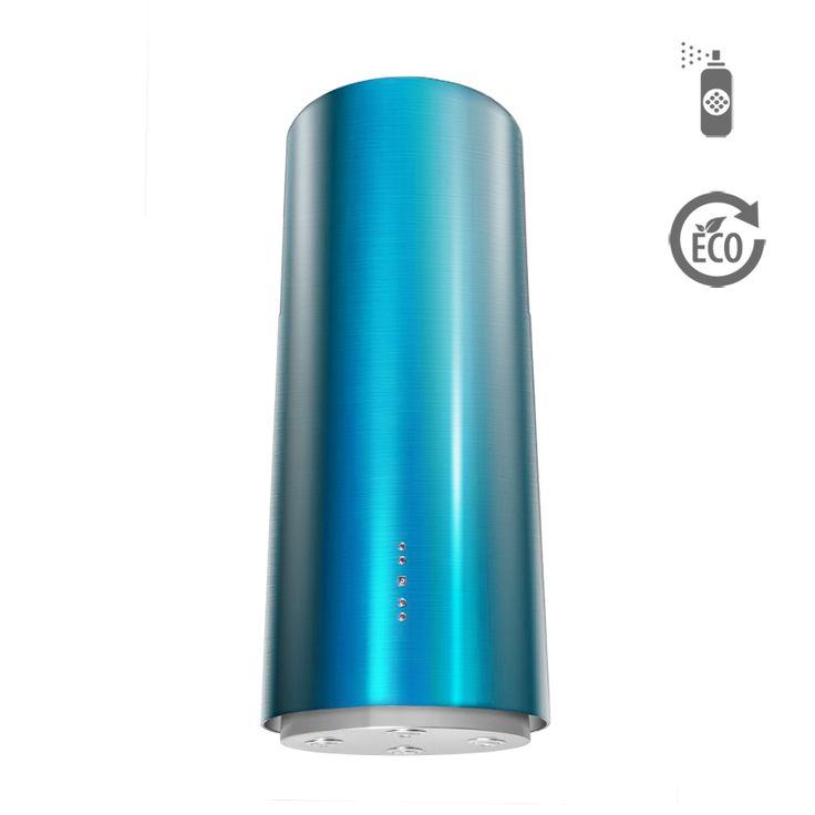 Okap wyspowy Ciarko Design ORW Color niebieski http://www.sklep.ciarkodesign.pl/e-sklep/okapy-wyspowe/or-w-color-blue-detail  #DESIGN #KitchenIsland #OKAP