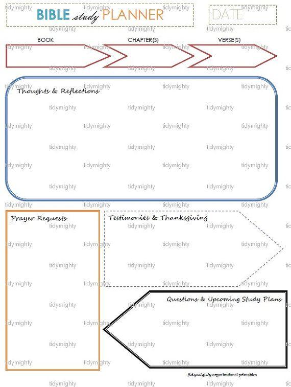 Bible Study Planner Organizer Printable Pdf Instant Download