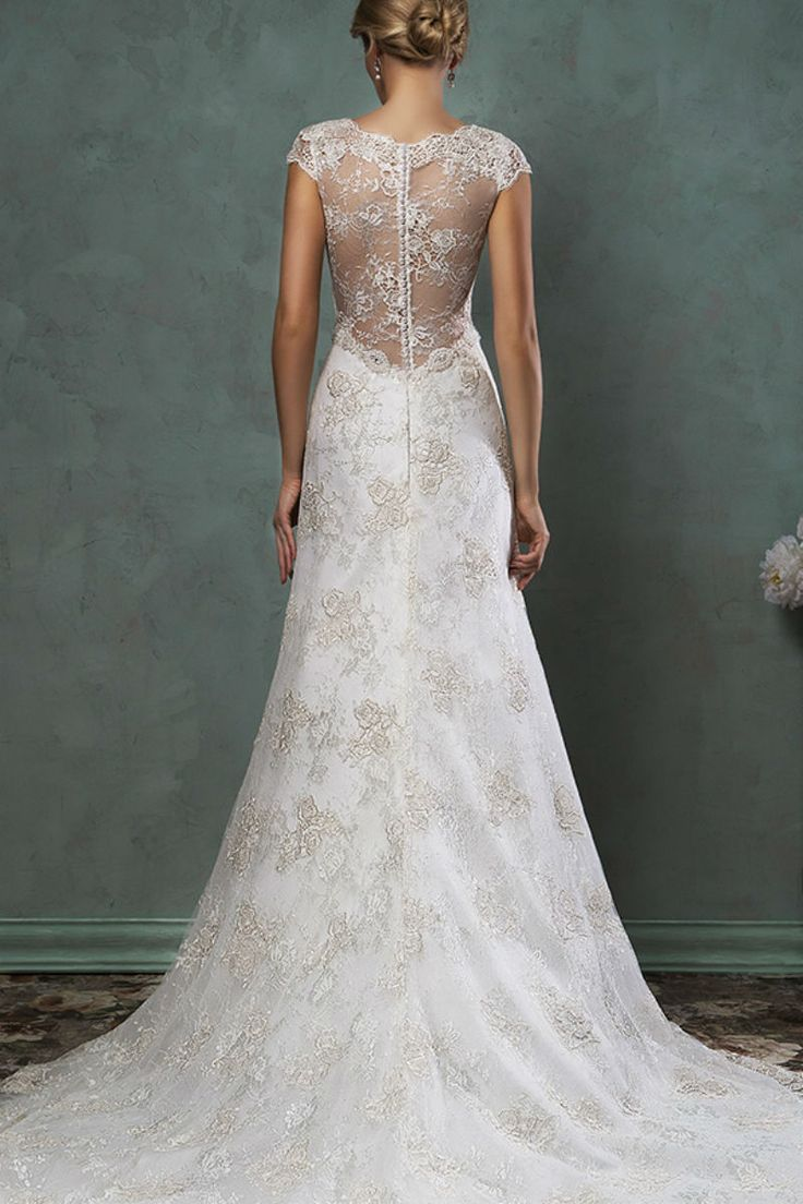 2015 New Designed A-line Lace Mermaid Wedding Dress Sexy Bridal Gown Custom Size 2-4-6-8-10-12-14-16-18 WD1505