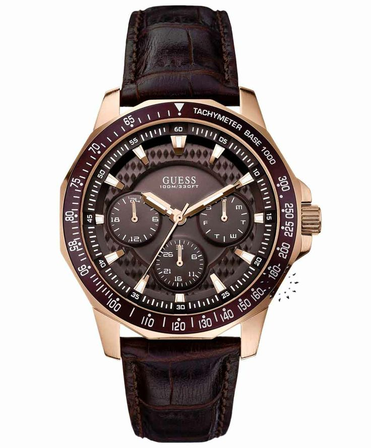 GUESS Rose Gold Brown Leather Strap Μοντέλο: W0387G3 Η τιμή μας: 159€ http://www.oroloi.gr/product_info.php?products_id=39111