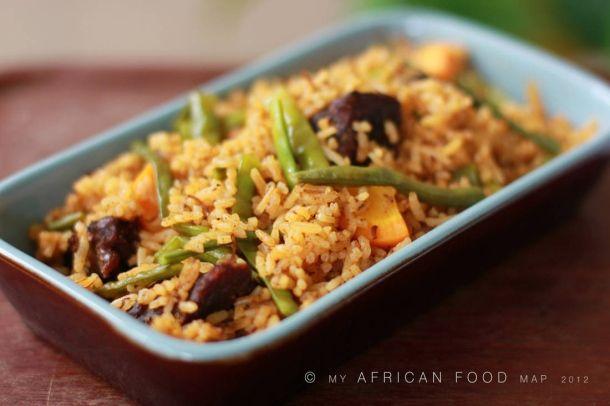Jollop-Reis, ein deftiges Gericht aus Ghana