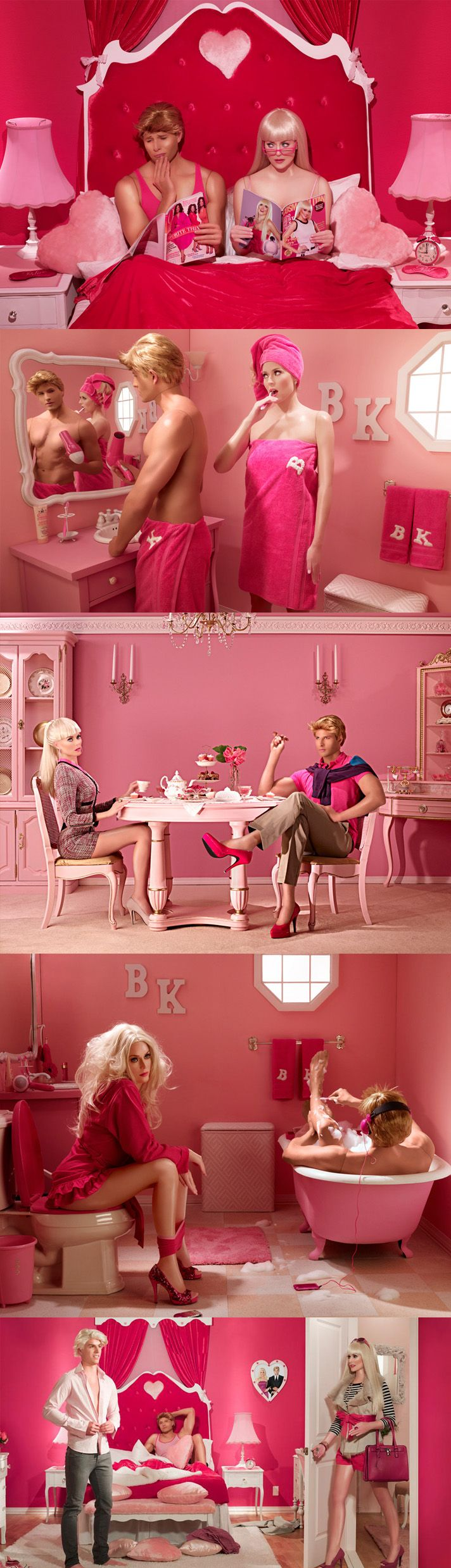 """Check out this amazing photoshoot by Dina Goldstein she titled """"In The Dollhouse."""""""