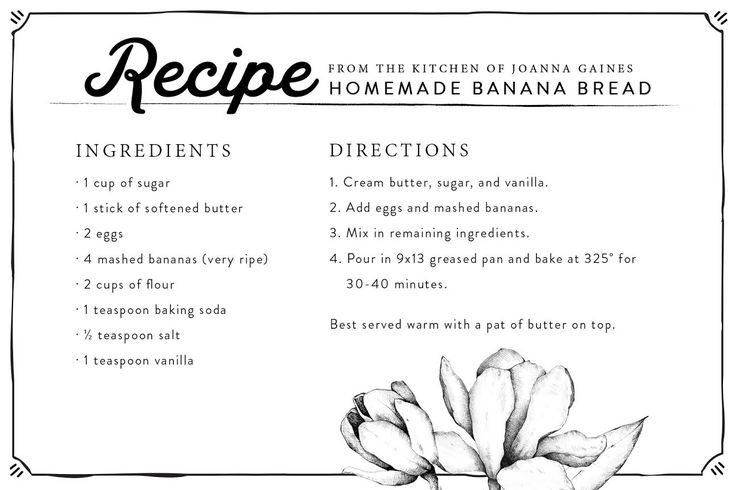 Fresh Banana Bread | Chip & Joanna Gaines | Magnolia Market | Recipe | Back to School | Waco, TX