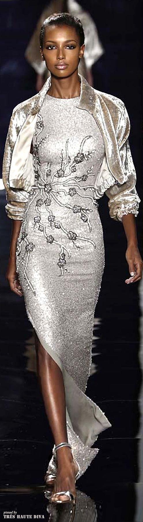 Reem Acra ~ Spring White Gown w Embellishments + Bolero Style Jacket 2015