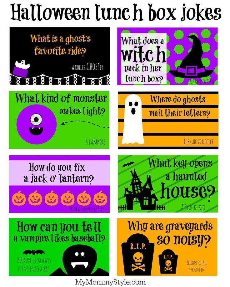 Halloween Lunchbox jokes Halloween jokes, Kids lunch box