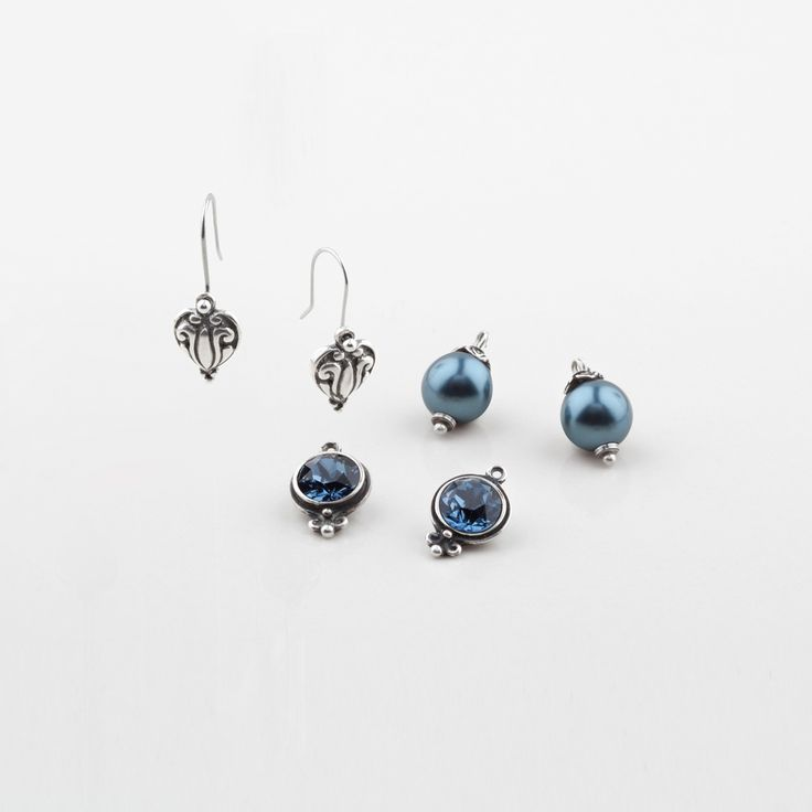 Miglio Designer Jewellery - Set of three Shades of Blue French Wire Earrings, R499.00 (http://shopza.miglio.com/shop-by-product/set-of-three-shades-of-blue-french-wire-earrings/)