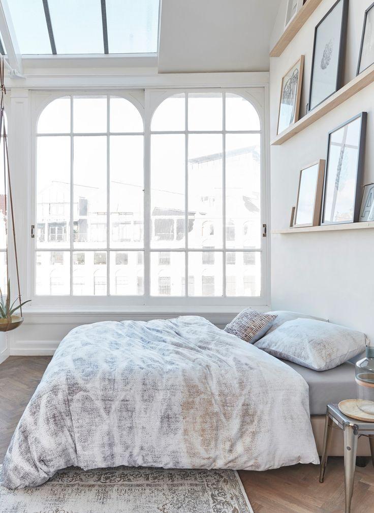 Extra-weiches graumeliertes Bettwäsche-Set aus Baumwolle für ein modernes Schlafzimmer