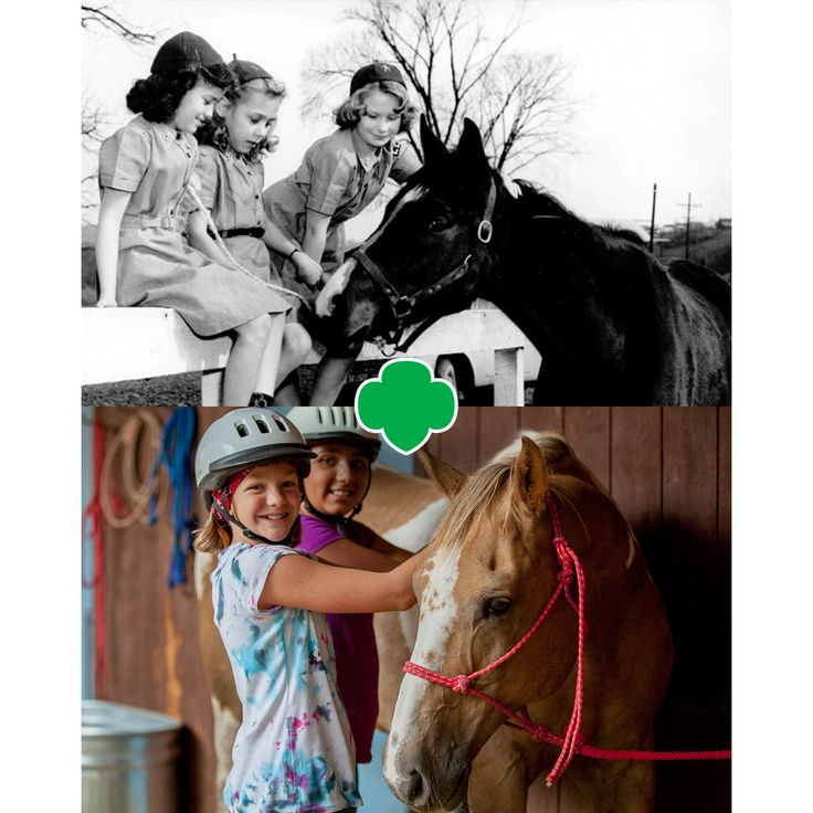 Girl Scouts learn to take life by the reins!   #GirlScouts #HorsebackRiding #Camp