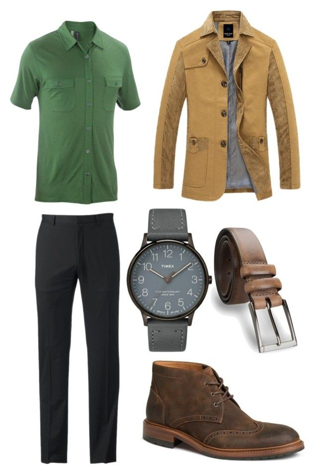 """Leigh 1"" by theanswer ❤ liked on Polyvore featuring ibex, Marc Anthony, Trask, Timex, James Campbell, men's fashion and menswear"