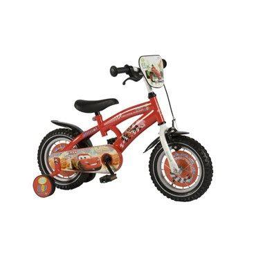 Disney Cars jongensfiets - 12 inch - rood  De perfecte fiets voor de echte Cars fans! Kinderen leren op een veilige manier fietsen op deze prachtige rode kinderfiets van Disney Cars 2 met zijwieltjes en een gesloten kettingkast.  EUR 119.99  Meer informatie