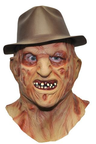 FREDDY KRUEGER MASK with HAT- Full Over The Head Realistic Halloween MASK