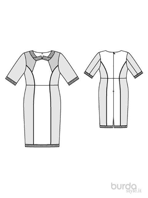 Abito scollo arrotondato - Abiti - Donna - Shop & Cartamodelli Il mondo dei cartamodelli e del cucito
