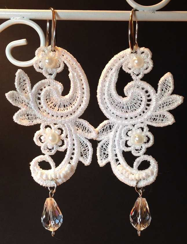 26 Best Images About Machine Embroidery Jewelry On Pinterest | Set Of Lace And Bobbin Lace
