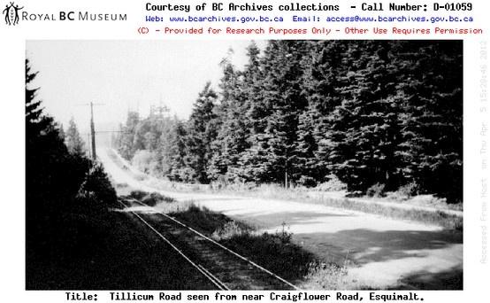 Tillicum Road near Craigflower i n1935