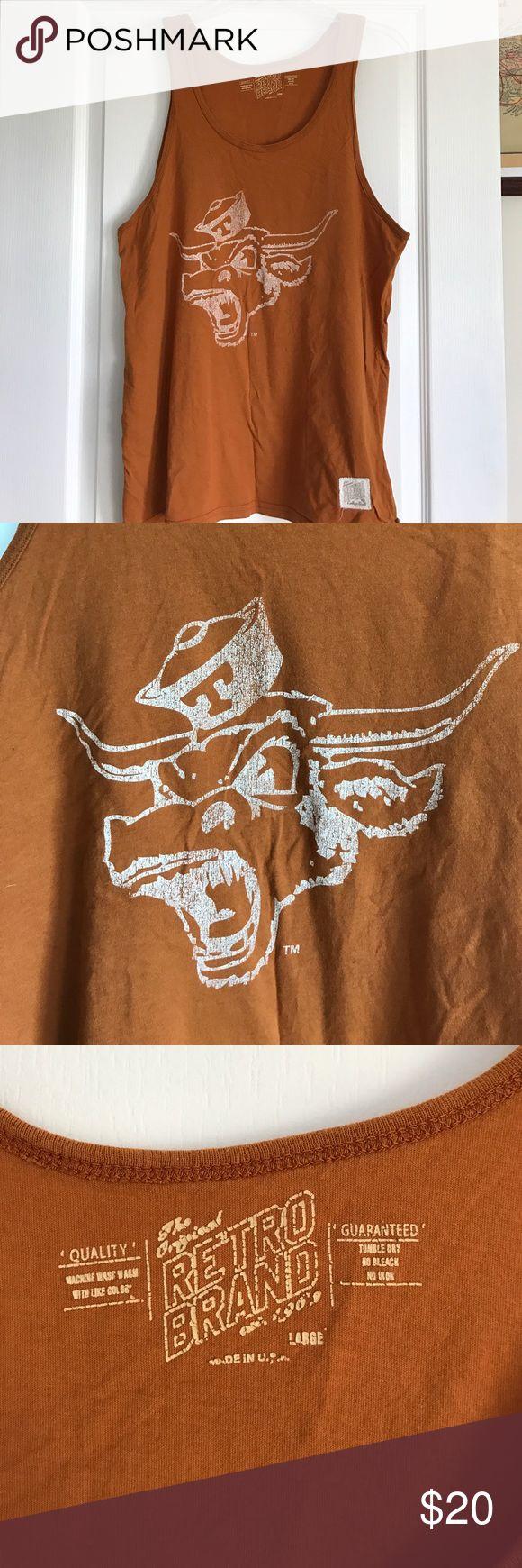 Texas Longhorns tank Burnt orange Longhorns tank perfect for game day or casual wear. Original Retro Brand Shirts Tank Tops