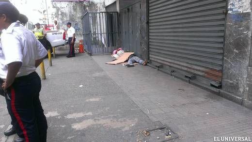 Mataron aun joven con cuatro tiros en la Avenida Baralt