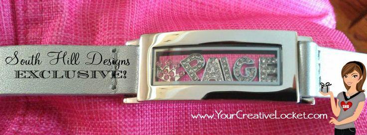 Personalized locket bracelet Shop at: www.yourcreativelocket.com #southhilldesigns #yourcreativelocket  #bracelet