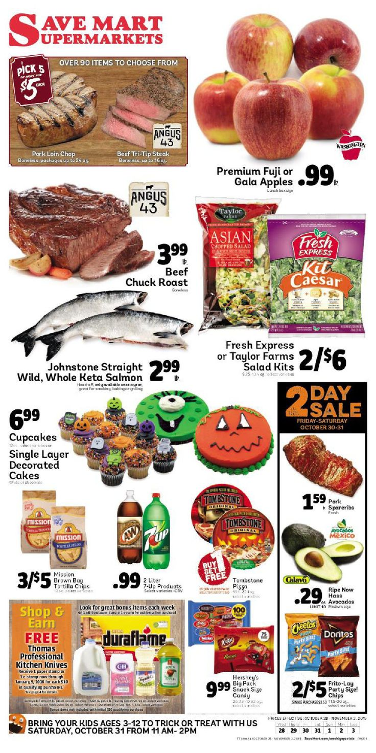 Save Mart Weekly ad October 28 - November 3, 2015 - http://www.olcatalog.com/save-mart/save-mart-weekly-ad.html