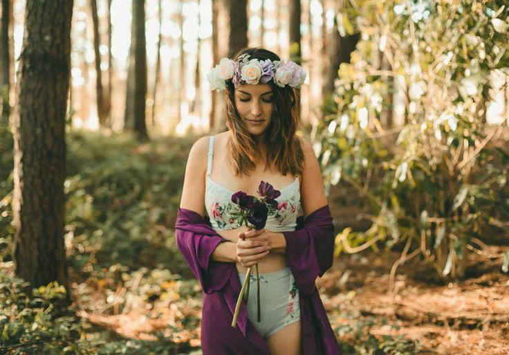 Liah Roebuck Bridal robe & lingerie <3  |  Photo The Love Collective | Wild Heart Studios