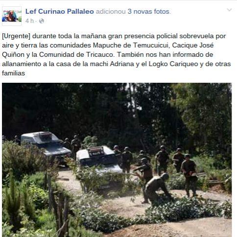 » Inaceptable: Carabineros desaloja y allana viviendas mapuches en plenas fiestas navideñas