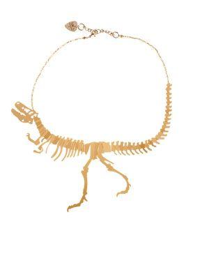 i love jewelry! and i love dinosaurs! holy moly! Enlarge Tatty Devine Small Dinosaur Necklace