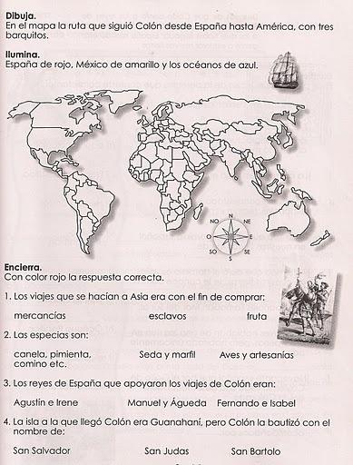 Actividades Escolares: ACTIVIDADES PARA EL 12 DE OCTUBRE ...