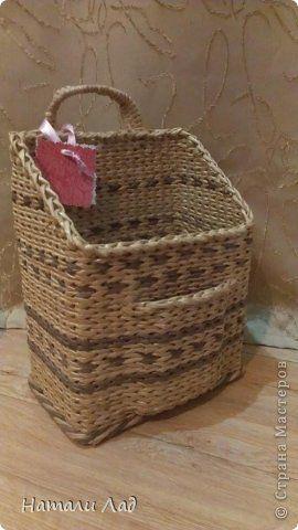 Мастер-класс Плетение обещанный МК карманчика Трубочки бумажные фото 1