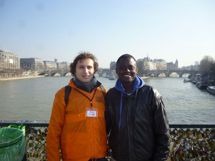 With Pierre on the Ponts des Arts, Paris. Thanks to Bill for sharing his picture with us!