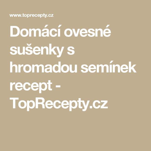 Domácí ovesné sušenky s hromadou semínek recept - TopRecepty.cz