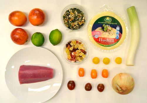 Tartare de atún con crujiente de Hushall, naranja sanguina y lima | Naturarla: Comunidad para los amantes de la cocina