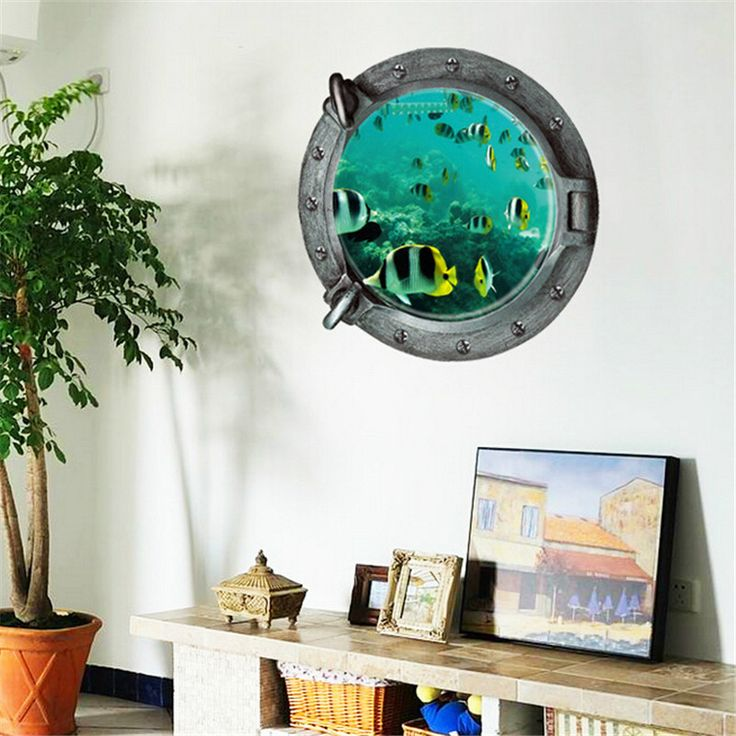 911 подводный мир 3D наклейки тв фоне стены стикеры гостиной декор стен съемные виниловые декор QT538