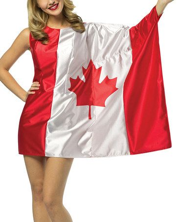 @Kasey Posa Another great find on #zulily! Canadian Flag Dress-Up Outfit - Women by Rasta Imposta #zulilyfinds