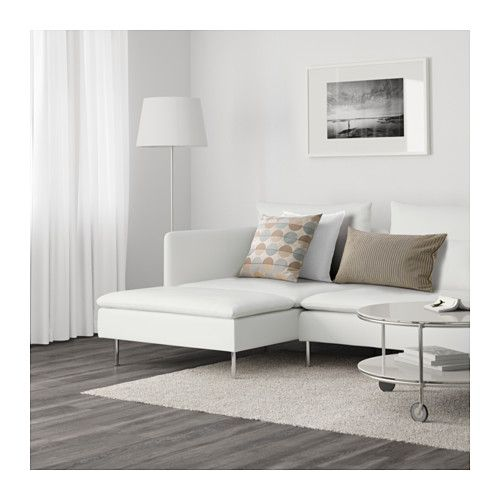SÖDERHAMN Sofa and chaise - Finnsta white - IKEA