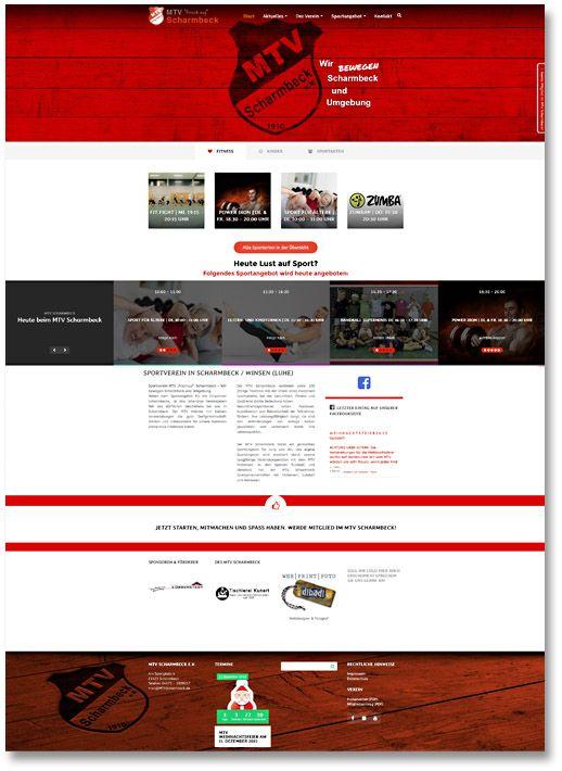 Internetseite für den MTV Scharmbeck