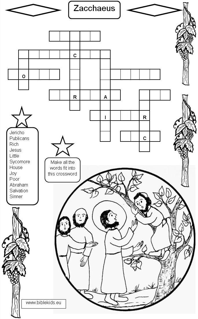 Zacchaeus Crossword