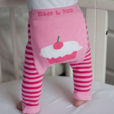 Baby Girl Cupcake Leggings in Pink | Blade and Rose | Sprogs Inc
