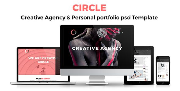 CIRCLE Creative Agency and Portfolio Template PSD Templates / Creative by ssketch