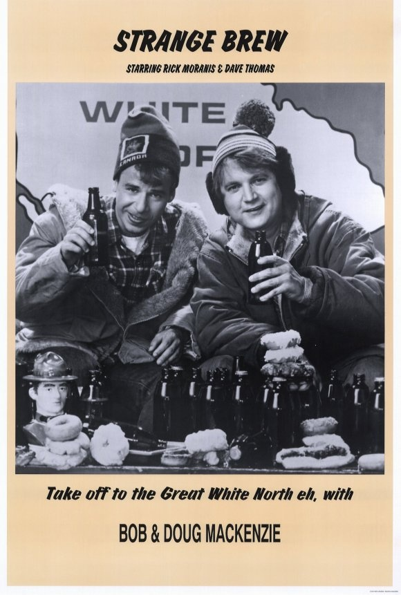 """Strange Brew (1983) - """"The power of the force has stopped you, you hosers."""""""