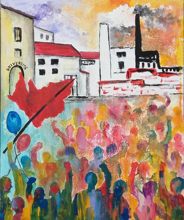 acrilico su cartone telato 40x50 by M.Cristina De Amicis