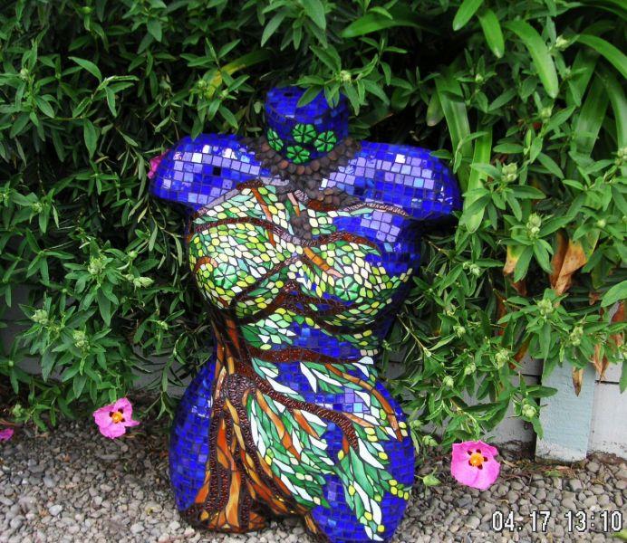 95 Best Mosaic Torso Images On Pinterest Mannequin Art And. Mosaic Garden  Pillars