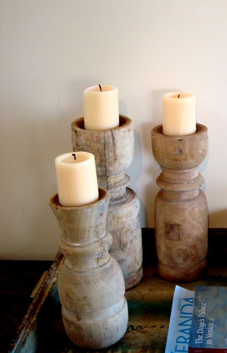 Handmade Candle Holders created from Vintage by ChaseVintage, $58.00