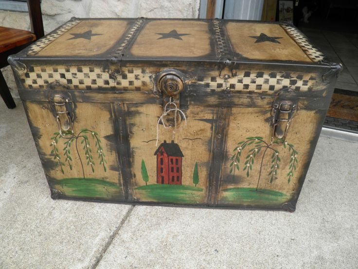 Hand painted Trunk - could put hardware on my own.