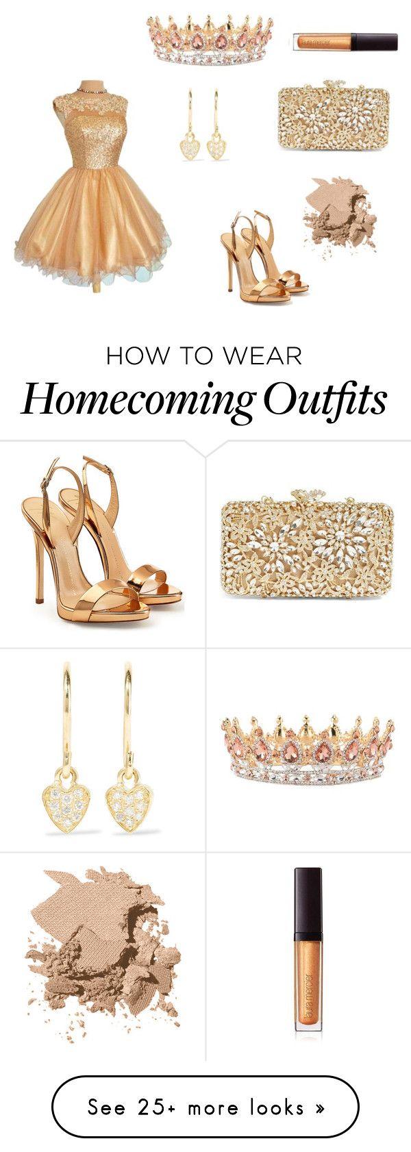 """Homecoming Queen"" by phat-panda on Polyvore featuring Giuseppe Zanotti, Glint, Jennifer Meyer Jewelry, Bobbi Brown Cosmetics and Laura Mercier"