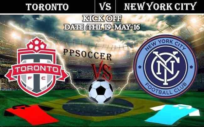 Toronto FC vs New York City FC 19.05.2016 Free Soccer Predictions, head to head, preview, predictions score, predictions under/over USA MLS