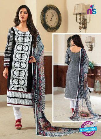 Rivaa14701A - Black & White Color Cotton Designer Suit